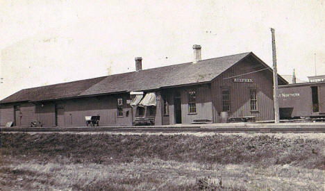 Great Northern Railroad Depot, Stephen Minnesota, 1910
