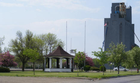 Park and grain elevator, Stephen Minnesota, 2008