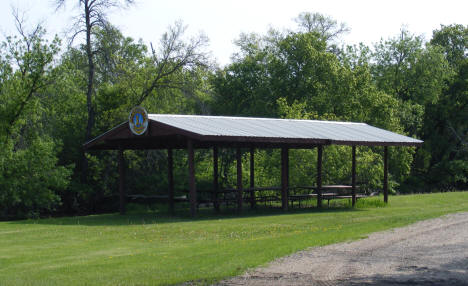 Lions Club picnic shelter in park, Stephen Minnesota, 2008