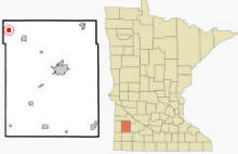 Location of Taunton, Minnesota