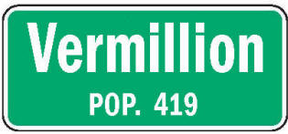 Vermillion Minnesota population sign