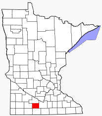 Location of Watonwan County Minnesota
