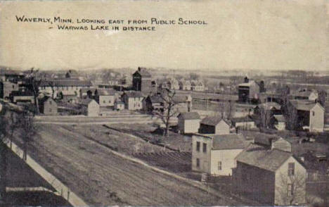 Birds eye view, Waverly Minnesota, 1917