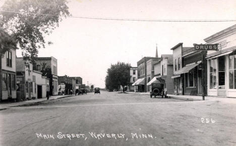 Main Street, Waverly Minnesota, 1920's