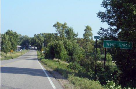 Entering West Union Minnesota, 2008