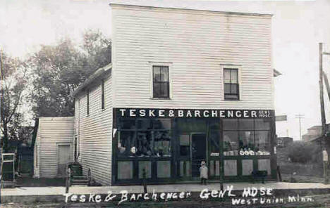 Teske & Barchenger General Store, West Union Minnesota, 1915