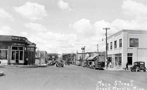 Main Street, Grand Marais Minnesota, 1940