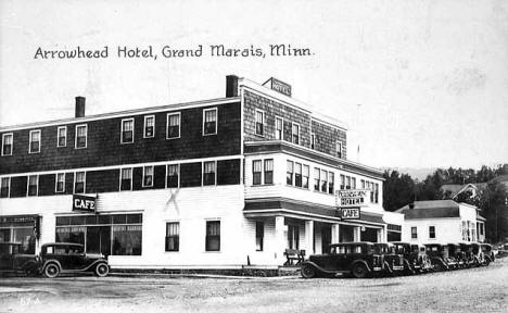 Arrowhead Hotel, Grand Marais Minnesota, 1934