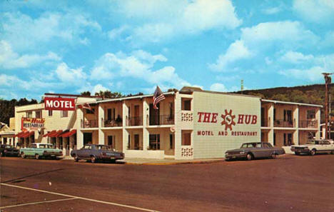 Hub Motel and Restaurant, Grand Marais Minnesota, 1965