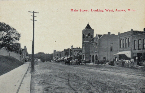 Main Street looking west, Anoka Minnesota, 1910