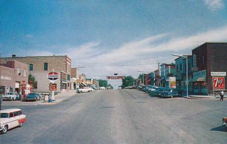 Street scene, Battle Lake Minnesota, 1950's