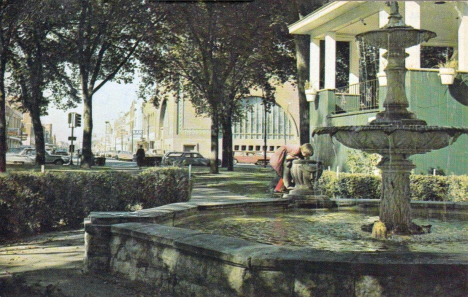 Fountain at Central Park, Owatonna Minnesota, 1960's