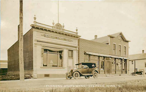 Farmers State Bank, Stephen Minnesota, 1922
