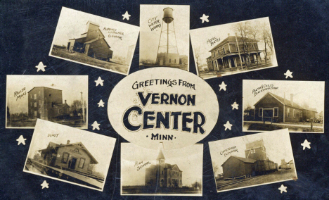 Multiple scenes, Vernon Center Minnesota, 1910