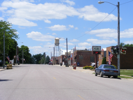 Street scene, Vernon Center Minnesota, 2014