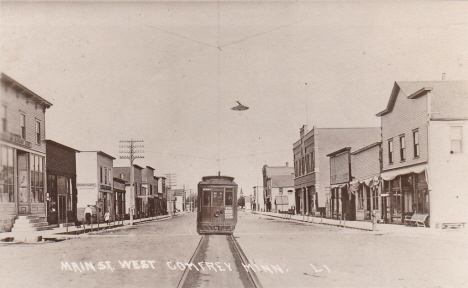 Main Street West, Comfrey Minnesota, 1917