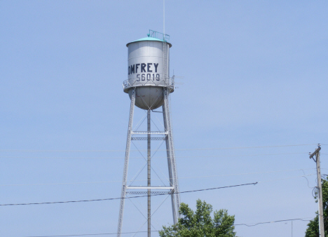 Water tower, Comfrey Minnesota, 2014