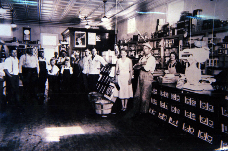 Interior of first Esko Cooperative Store, Esko Minnesota, c1933
