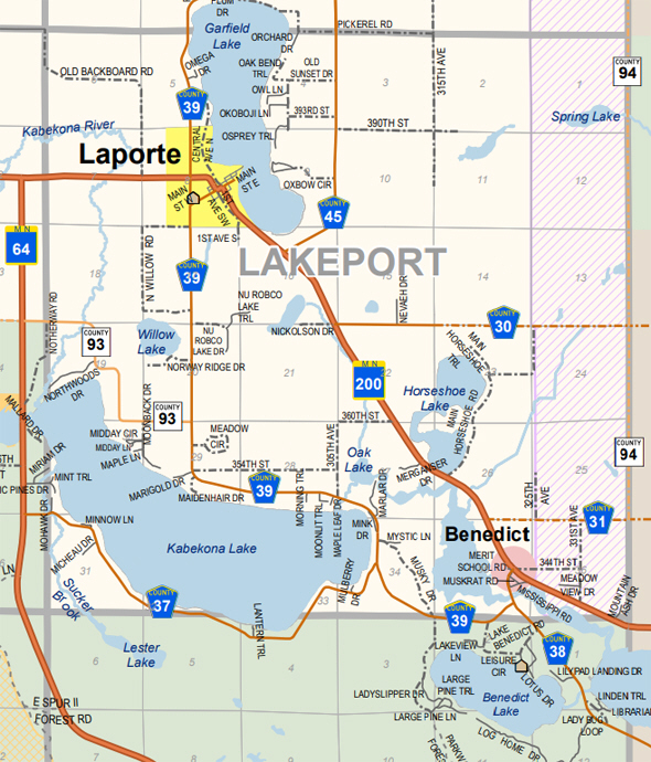Map of Lakeport Township Minnesota
