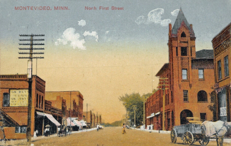 North First Street, Montevideo Minnesota, 1911