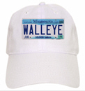 Minnesota License Plate Walleye Baseball Cap