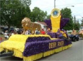 Deer River Lions Club Float in the parade