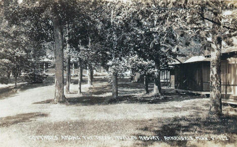 Cottages among the trees, Tuelle's Resort, Annandale Minnesota, 1931