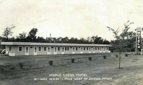 Maple Lodge Motel, Anoka Minnesota, 1950's