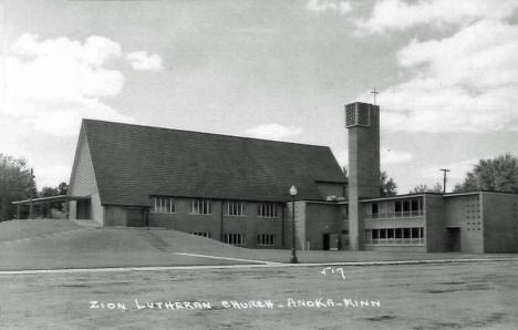 Zion Lutheran Church, Anoka Minnesota, 1950's