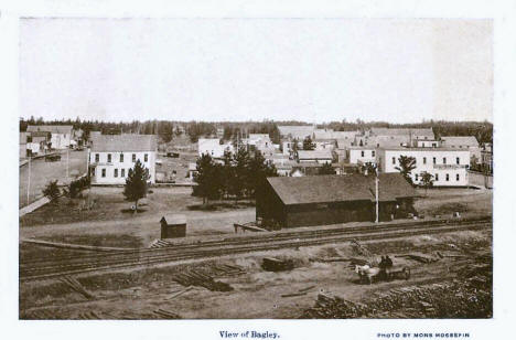View of Bagley Minnesota, 1908