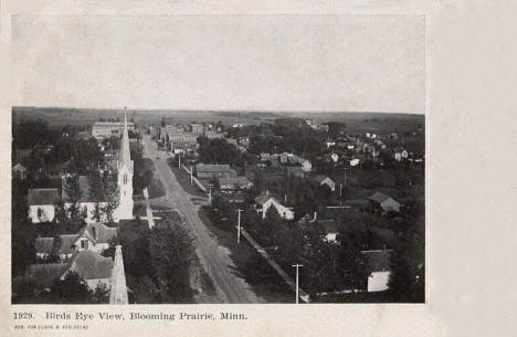 Birds eye view, Blooming Prairie Minnesota, 1906