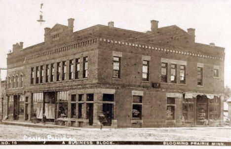 Cooley Building, Blooming Prairie Minnesota, 1910's