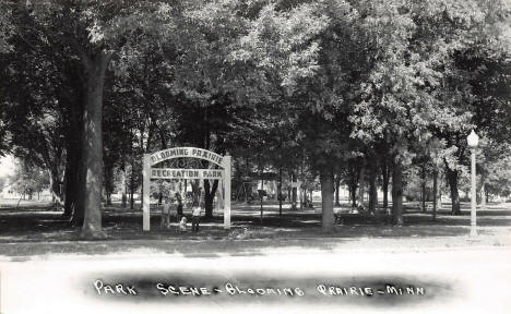 Blooming Prairie Recreation Park, Blooming Prairie Minnesota, 1940's