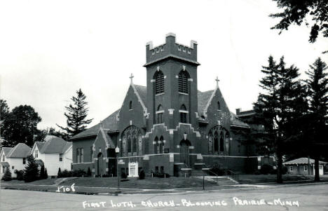 First Lutheran Church, Blooming Prairie Minnesota, 1950's