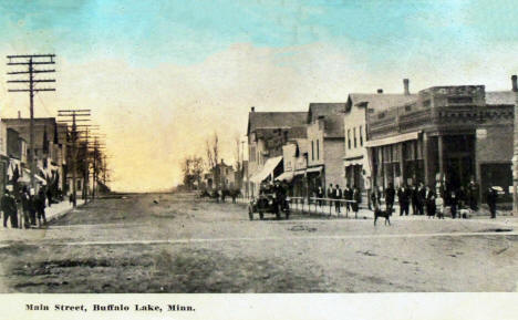 Main Street, Buffalo Lake Minnesota, 1910's