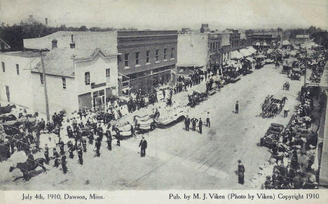 Independence Day Parade, Clarkfield Minnesota, 1910
