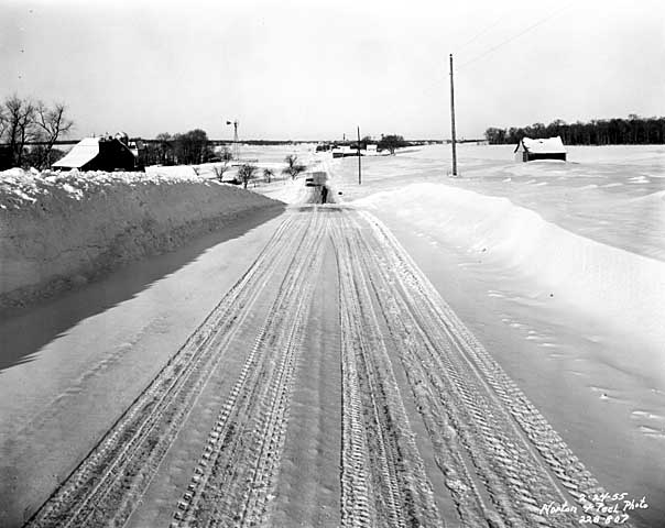 Highway 212 near Cologne, Carver County Minnesota, 1955