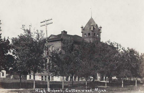 High School, Cottonwood Minnesota, 1914