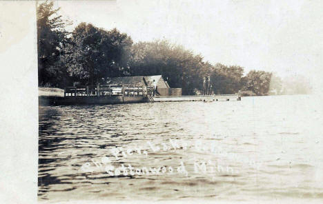 At the Pier, Cottonwood Lake, Cottonwood Minnesota, 1907