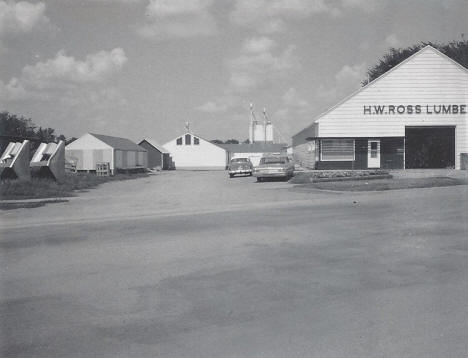 H.W. Ross Lumber Company and Cottonwood Soil Service, Cottonwood Minnesota, 1969