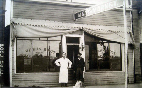 Keehn Bros. Meat Market, Cottonwood Minnesota, 1910's