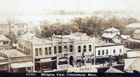 Birdseye view, Cottonwood Minnesota, 1910's