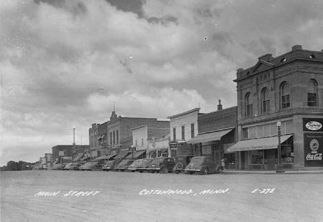 Main Street, Cottonwood Minnesota, 1950