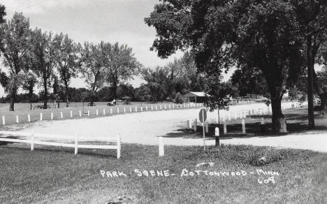 Park scene, Cottonwood Minnesota, 1960