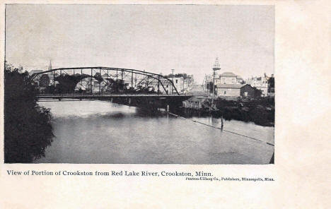 Bridge over Red Lake River, Crookston Minnesota, 1905