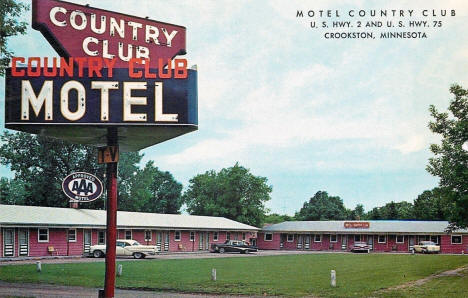 Country Club Motel, Crookston Minnesota, 1958