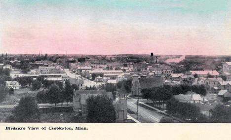 Birds eye view of Crookston Minnesota, 1913