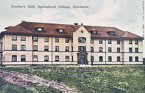 Stephen's Hall, Agricultural College, Crookston Minnesota, 1910