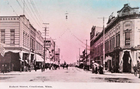 Robert Street, Crookston Minnesota, 1910