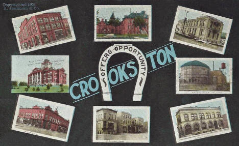 Multiple scenes, Crookston Minnesota, 1908